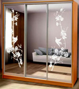 рисунки на зеркалах дверей купе №2